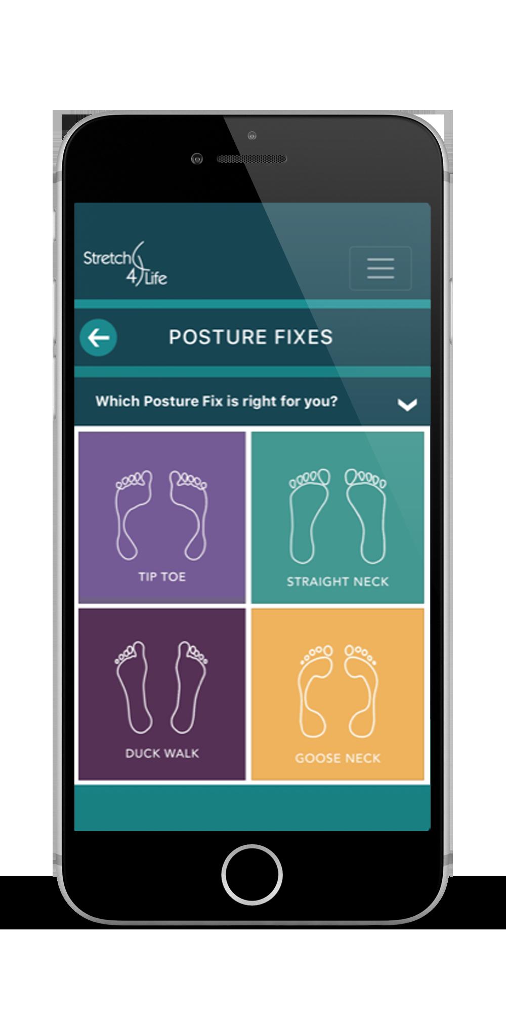 Posture Fixes Stretch4Life App